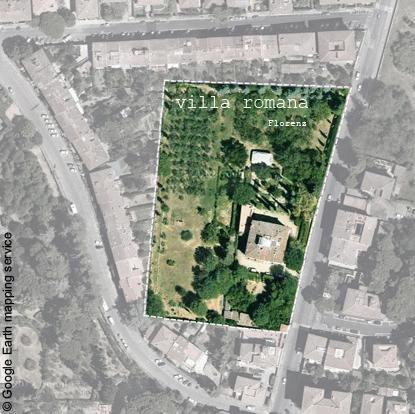 Villa Romana vue du ciel web